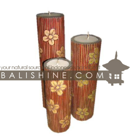 Balishine indonesian handicraft item candle set of 3 for Home decor jakarta